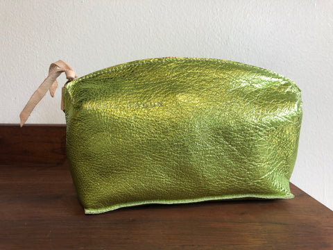 Pod Pouch, chartreuse metallic