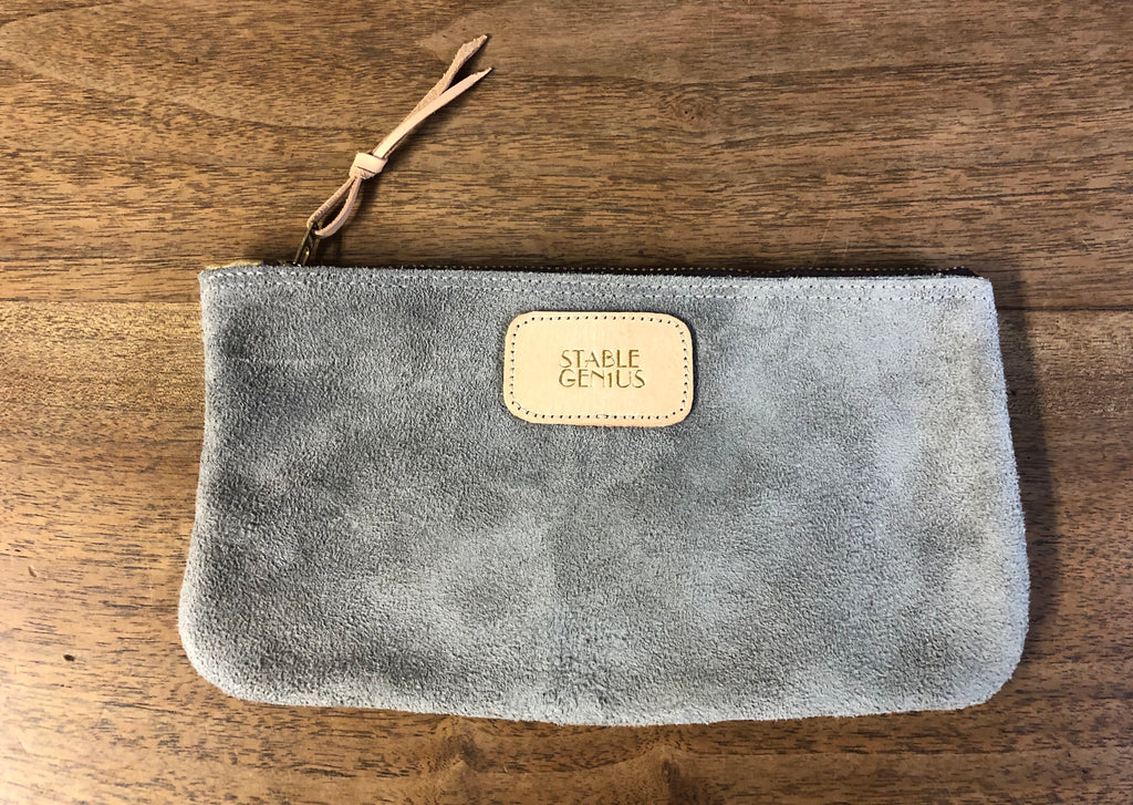 Stable Genius Charcoal Suede Nomadic Pouch