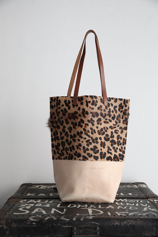 Paper Bag Leopard Fur with Saddle Bottom