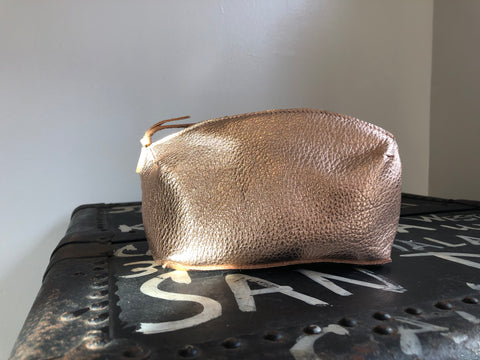 Pod Pouch, rose gold leather
