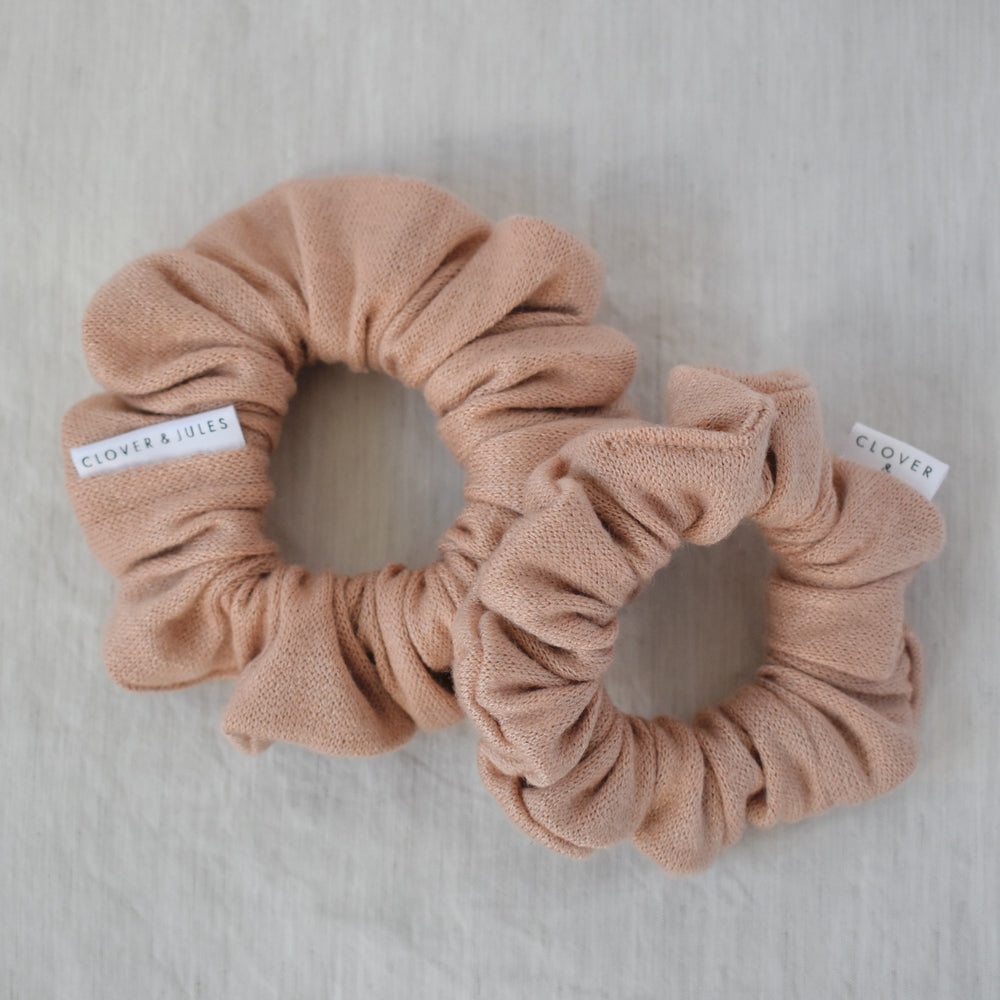 Cream Tan  // Cashmere Scrunchie