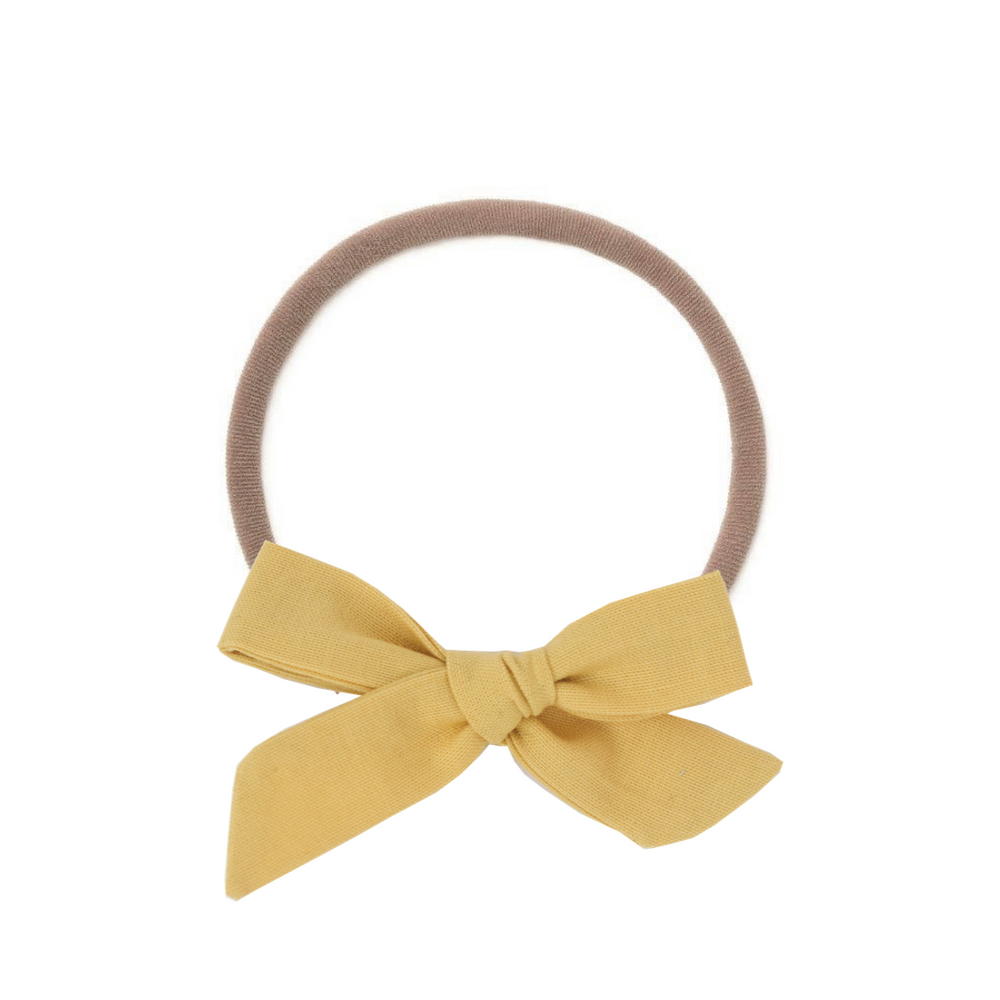 Load image into Gallery viewer, Daffodil // Small Schoolgirl Bow