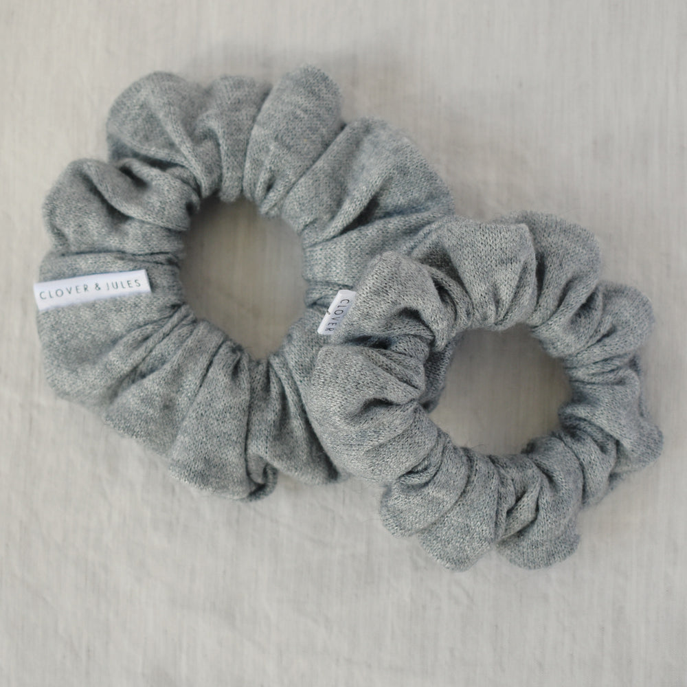 Heather Grey  // Cashmere Scrunchie