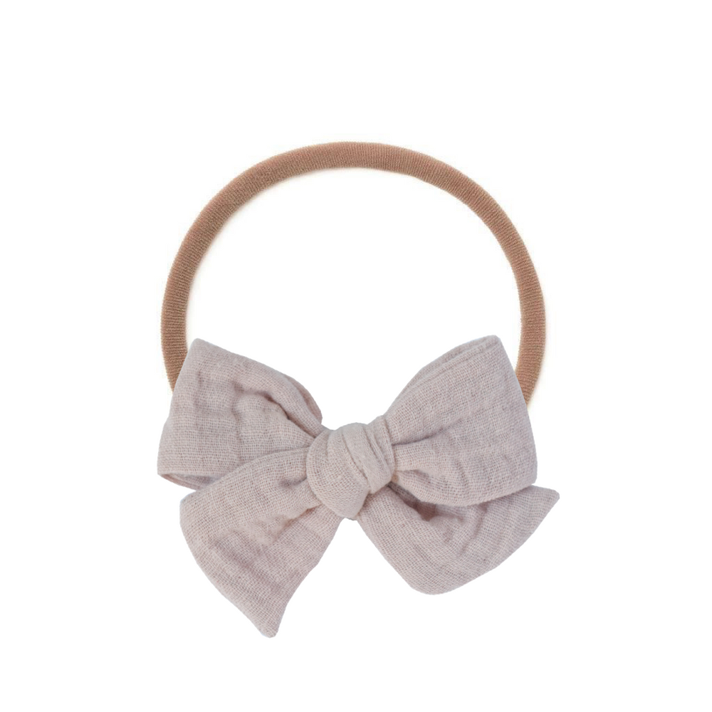 Lilac Pink Cloud Cotton // Small Pinwheel Bow
