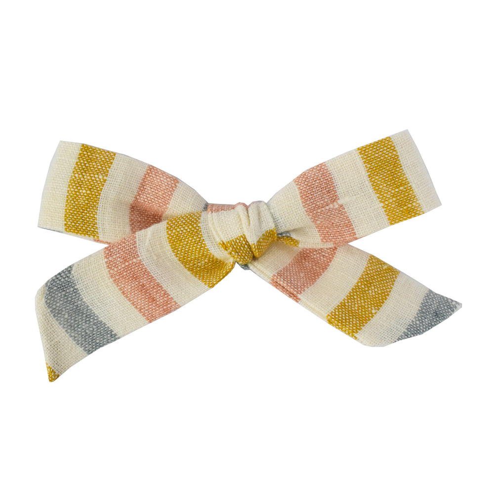 Sutton Stripe // Large Schoolgirl Bow