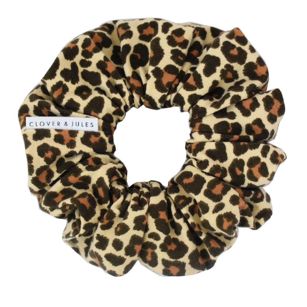 Tan & Brown Leopard Scrunchie