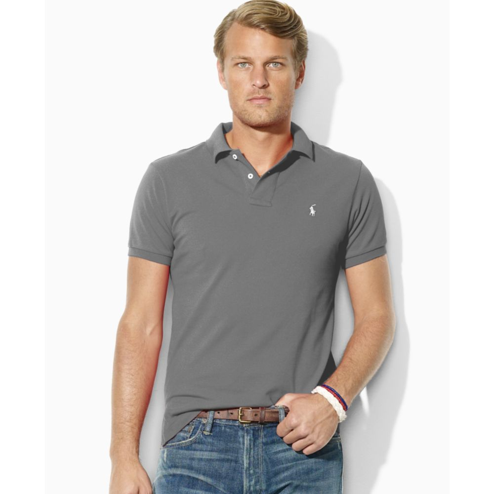 93846a8a45bd RALPH LAUREN Custom Slim Fit Mesh Polo – BonaChase
