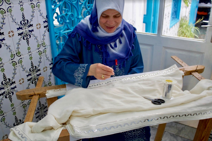 Nabeul Style Embroidery with Olfa