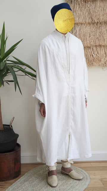 The Linen Jebba - Classic White