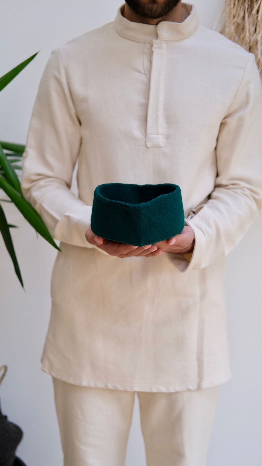 Chechia Hat Palm Leaf Emerald