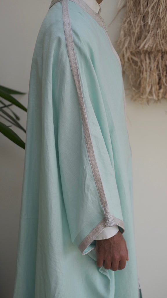 The Linen Jebba - Light Mint