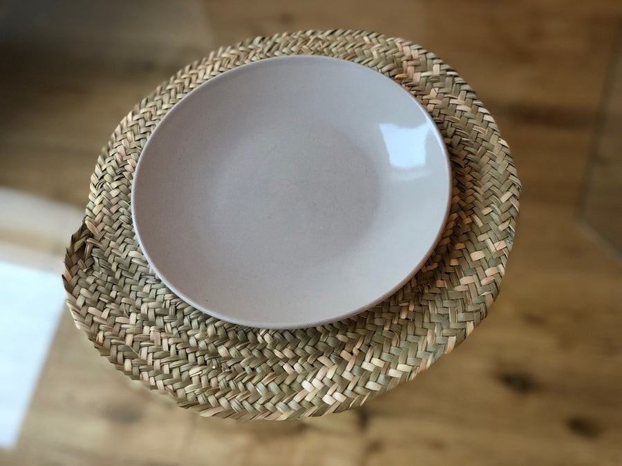 Woven Palm Round Placemats - Set of Four