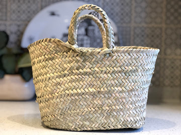 Woven Palm Baskets - Set of Three