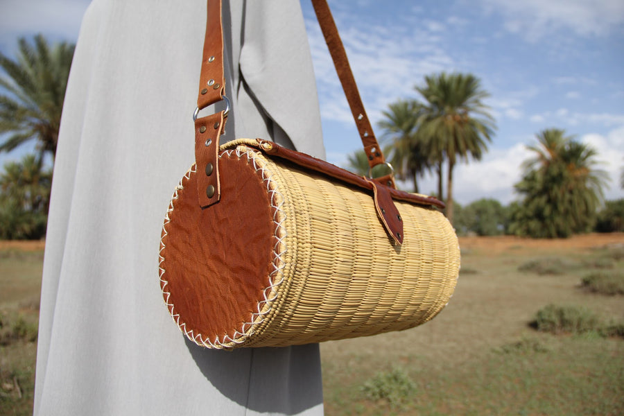 Woven Palm East West Bag