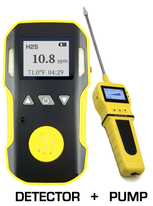 H2S monitor with pump