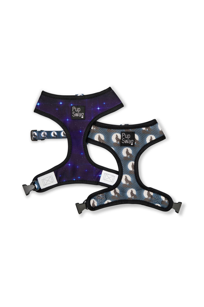 Midnight Wolf Reversible Dog Harness