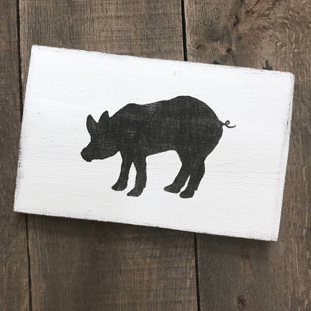 Anchored Soul Designs - Pig sign, farm animal decor, farmhouse sign, farmhouse decor
