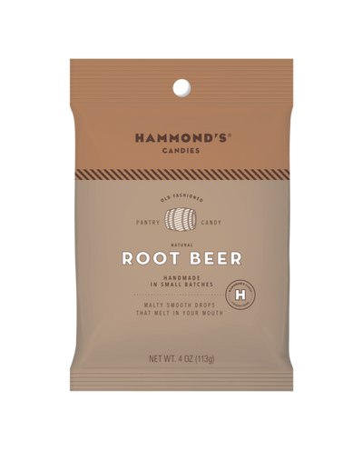 Hammond's Candies - Natural Root Beer Drops Bag