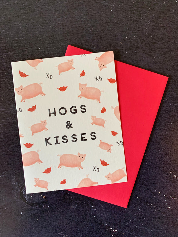 Slightly: Hogs and Kisses Card