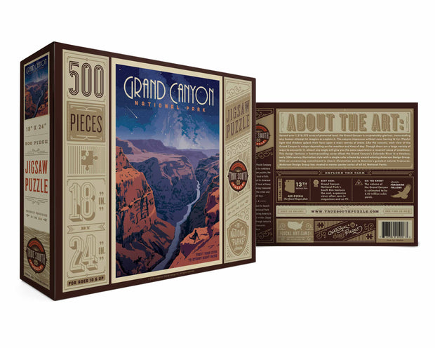 True South Puzzle: Grand Canyon - Starry Night