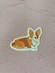 One Canoe Two: Corgi Die-Cut Vinyl Sticker