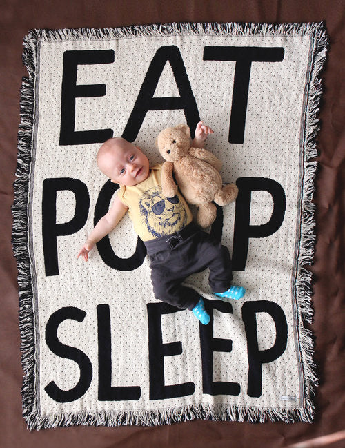 Calhoun & Co: Eat Poop Sleep Blanket