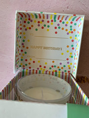 Happy Birthday Music Box Candle