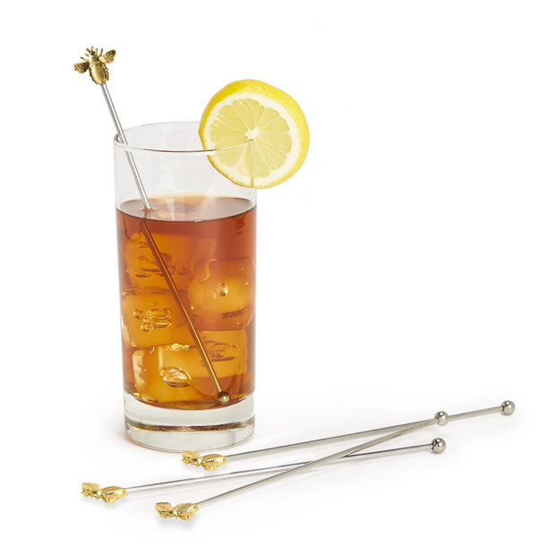 Bee Happy Set of 4 Bee Drink Stirrers
