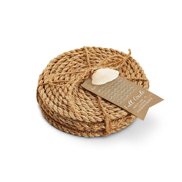 Full Circle Set of 4 Jute Rope Coasters