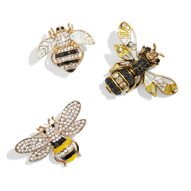Jeweled Bee Pin