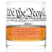 U.S. Constitution Rocks Glass