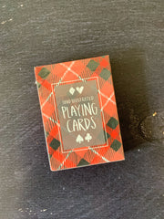 One Canoe Two: Plaid Playing Cards