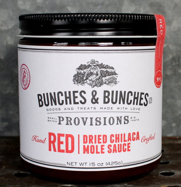 Bunches & Bunches - RED: DRIED CHILACA MOLE SAUCE