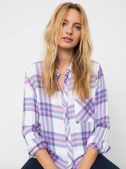 Rails: Hunter Top - White Sky Pink