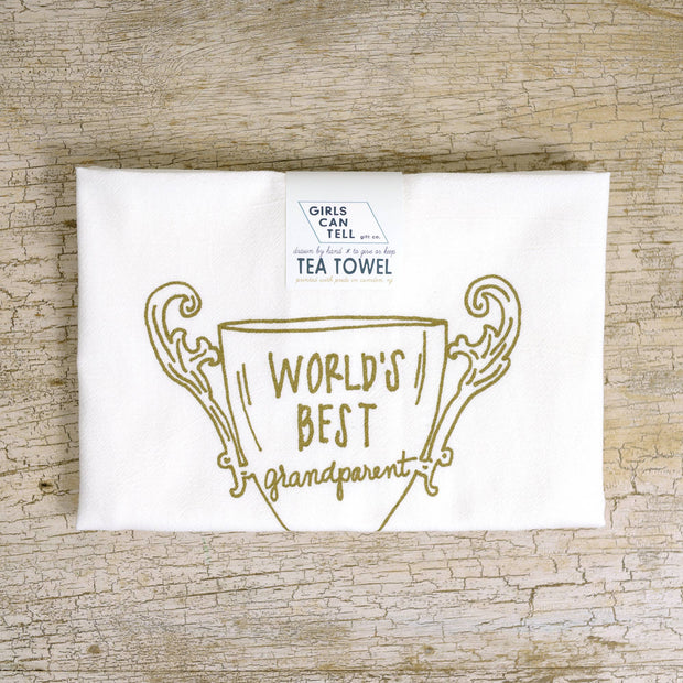 Grandparent Trophy Tea Towel