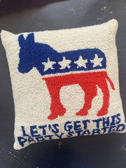 Democrat Party Started Hook Pillow