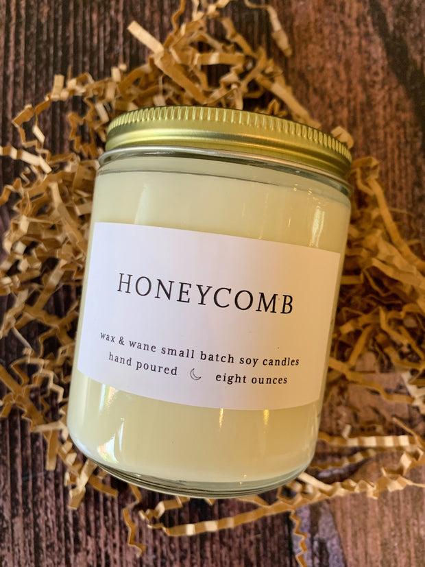 Wax & Wane: Honeycomb Soy Candle