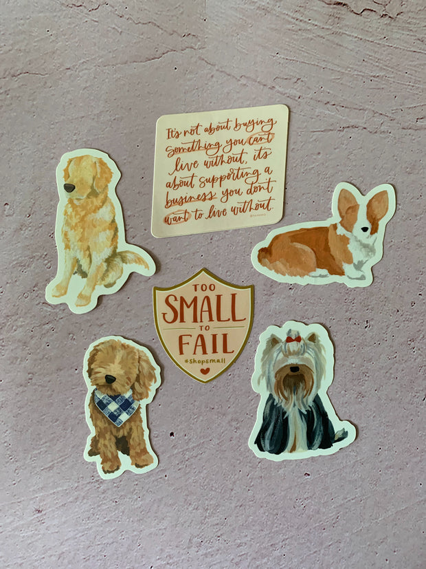 One Canoe Two: Golden Doodle Die-Cut Vinyl Sticker