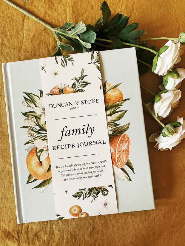 Duncan & Stone: Family Recipe Book