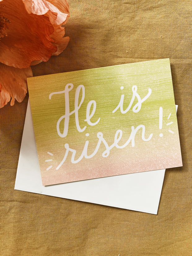 Slightly Stationery: He Is Risen! Card