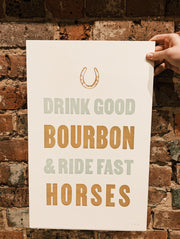 Old Try: Bourbon + Horses Print - 13x20