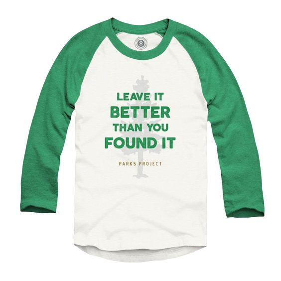 Parks Project: Leave it Better (youth raglan)