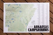 Arkansas Campgrounds 24x36 Print