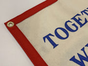 Oxford Pennant: Together We Will See It Through Camp Flag