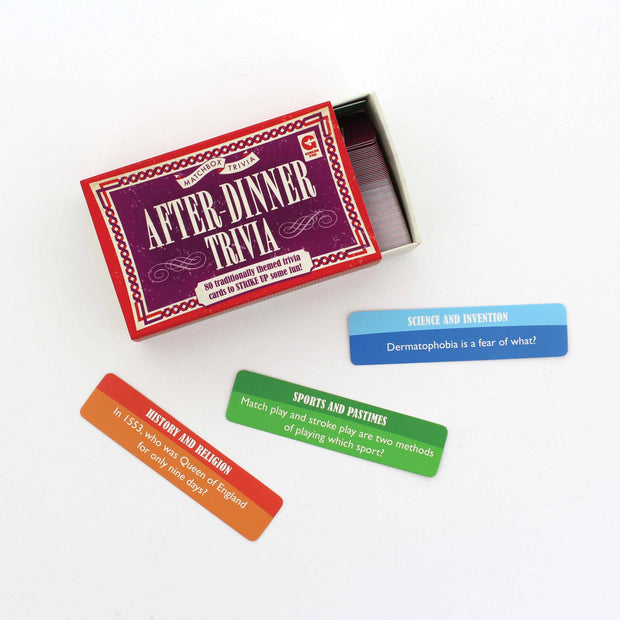 After-Dinner Trivia Matchbox Trivia