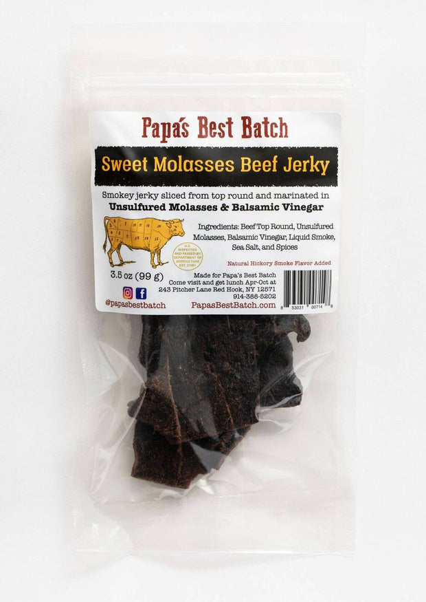Papa's Best Batch - 3.5oz Sweet Molasses Beef Jerky