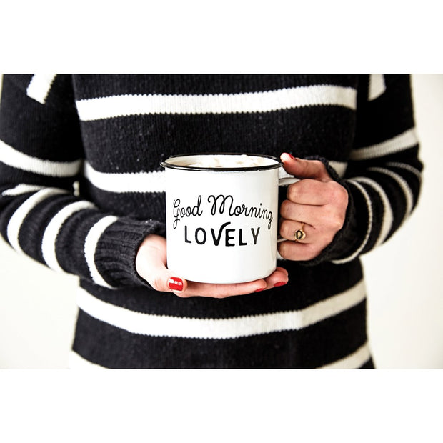 Morning Lovely Enamel Mug