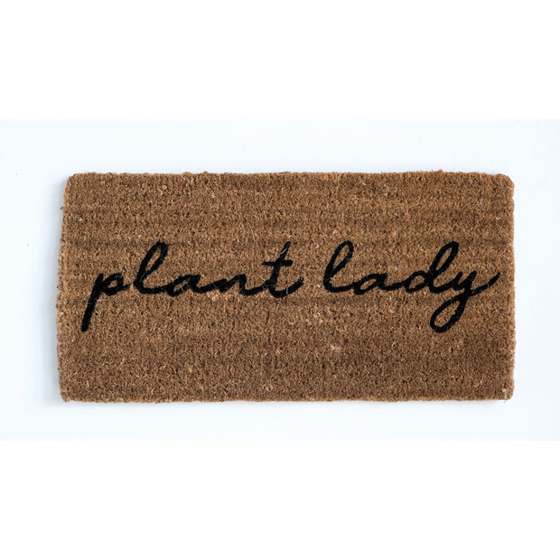 Natural Coir Door Mat - Plant Lady