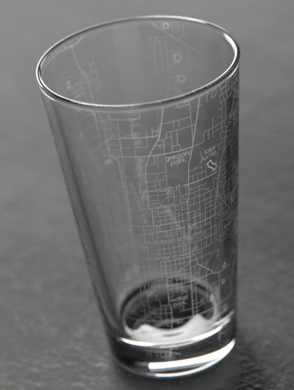 Fayetteville, AR Map Pint Glass