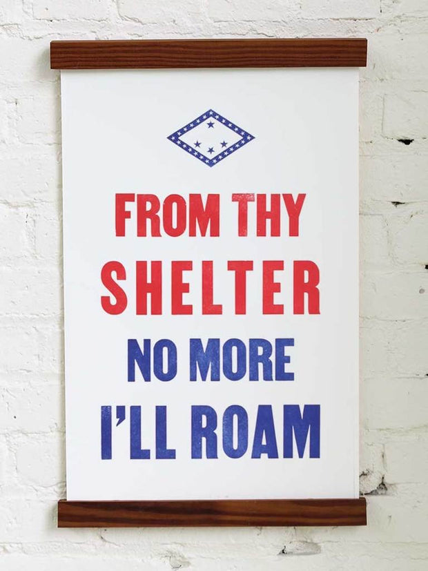 Old Try: From Thy Shelter Print - 13x20